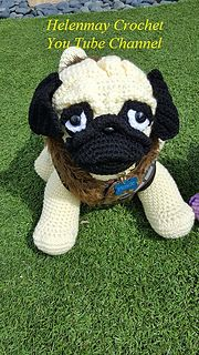 This adorable crochet pug dog has a free You Tube video tutorial: https://youtu.be/se220Y8--D4