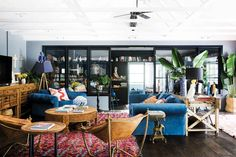 The must-see transformation of a dull home in Byron Bay Linoleum Flooring, Floors, Freedom Furniture, Shabby, Decor Inspiration, Decor Ideas, Pink Cushions, Interior Design Business, Front Rooms