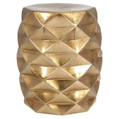 Offer a stunning seat to guests on your patio or rest your latest read atop this eye-catching ceramic garden stool, showcasing a geometric shape and metallic...