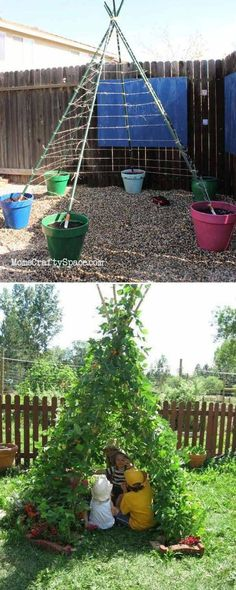 Building a green sweetpea tepee is a great idea to add fun to your yard.