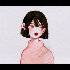 Painting Inspiration, Art Inspo, Character Illustration, Illustration Art, Videos Anime, Korean Artist, Beautiful Drawings, Illustrations, Art Sketchbook