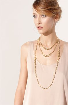 Marco Bicego Africa Gold Graduated Long Strand Necklace Nordstrom Ring Earrings Chandelier