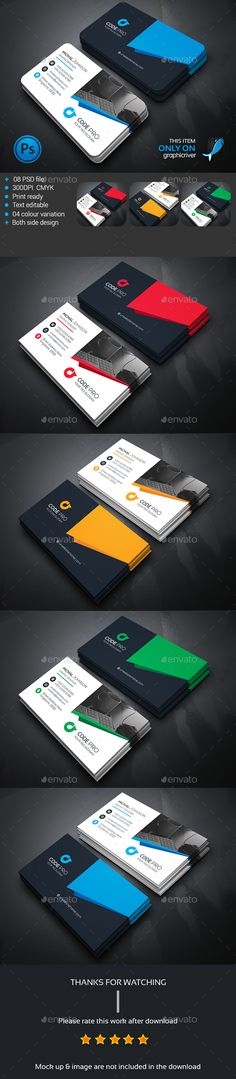 Corporate Business Card Template PSD #design Download: http://graphicriver.net/item/corporate-business-card/13942202?ref=ksioks