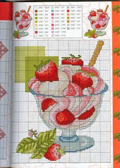 Mille schemi a punto croce gratuiti per tutti: Schemi a punto croce dolci, dolcetti e torte