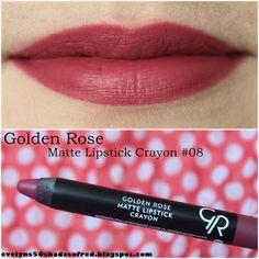 Evelyn's 50 Shades of Red: Nowości Golden Rose / Golden Rose new products: Matte Lipstick Crayon #04, #05, #08, #11 (+ porównanie z Velvet Matte - comparison with Velvet Matte)