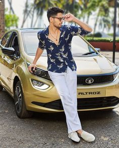 Vibing with the all new Altroz 🕶️ Contemporary and sharp, it feels like a hatchback from the future! Bollywood Outfits, Bollywood Actors, Bollywood Celebrities, Siddharth Malothra, Cute Celebrity Couples, Tiger Shroff, Reality Tv Stars, Sushant Singh, Varun Dhawan