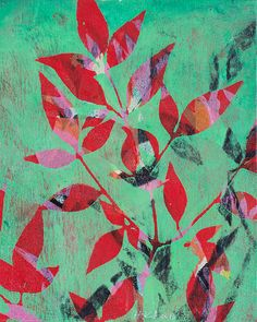 Hannah Klaus Hunter, Bo Tree x Monoprint, private collection Visual Art Lessons, Paper Collage Art, Gelli Arts, Art Terms, Graphic Artwork, Abstract Painters, Plant Illustration, Texture Art, Art Plastique