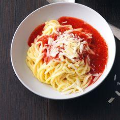 Grieß-Spaghetti
