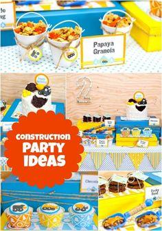 Construction Birthday Party Dessert Table Ideas