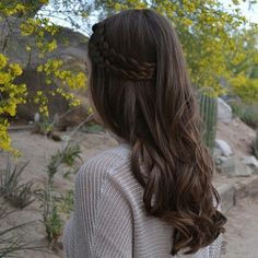 double braids & curls | hair_and_paint