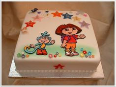 dora birthday cake designs
