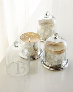 Monogrammed Candle Cloche