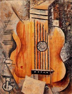 Pablo Picasso: Guitar (I love Eva), 1912