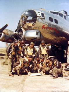 "B-17G ""Button Nose"" and crew                                                                                                                                                                                 More"