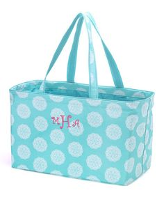 Loving this Aqua Medallion Monogram Ultimate Tote on #zulily! #zulilyfinds