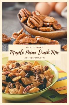 Stock up on appetizers for football season. Try our unique take on trail mix with our Maple Pecan Snack Mix! Maple Pecan Pie, Pecan Pie Bars, Pecan Recipes, Fall Recipes, Georgia Pecans, Dried Blueberries, Chocolate Chunk Cookies, Brown Butter, Healthy Treats
