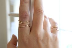 Parallel Coil Ring - 14k Gold Fill or Sterling Silver - Stacking Ring - Twisted Ring - Hammered Ring - Smooth Ring - Simple Gold Ring Thin by MinimalistMagnolia on Etsy https://www.etsy.com/listing/200861132/parallel-coil-ring-14k-gold-fill-or