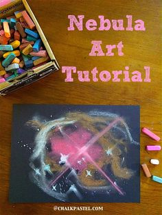 Space Eclipse Nebula Space Chalk Pastel Art Tutorial - Homeschooling Today Magazine - Pull out those fantastic reds, oranges, browns, yellows and greens and enjoy our free fall art lessons for all ages. Don't you love a fall palette? Chalk Pastel Art, Chalk Pastels, Chalk Art, Oil Pastels, Space Preschool, Space Activities For Preschoolers, Outer Space Theme, To Infinity And Beyond, Elementary Art