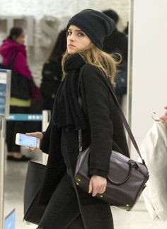 Emma Watson At JFK Airport In NYC
