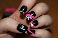 How about scaring your friends with your long pointed acrylic nail designs that have lion skin pattern with pointy jaws? Description from howtotakeoffacrylicnails.com. I searched for this on bing.com/images