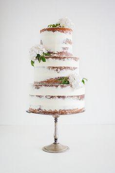Semi nude with Hydrangeas | by Miss Ladybird cakes