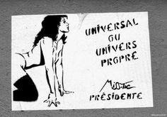 Miss-Tic : Universal ou univers propre Street Wall Art, Urban Street Art, Urban Art, Banksy, Art Society, Land Art, Street Artists, Photos, Pictures