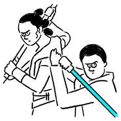 Rey & Finn #rey #finn #starwars #theforceawakens #seijimatsumoto #松本誠次 #art #drawing #illustration #illustrator #movie #episode7 #イラスト #スターウォーズ #フォースの覚醒 #映画 #レイ #フィン