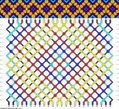 Muster # 91321, Streicher: 24 Zeilen: 18 Farben: 7