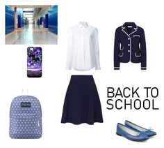 """School"" by elena-maharea on Polyvore featuring Tory Burch, Kenzo, Misha Nonoo, Repetto, JanSport, school and daily"