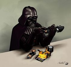 Even Darth Vader uses D batteries from Duracell!    Not too long ago we covered the history of Energizers' mascot: the Energizer Bunny. While Duracell does not have a cute and fuzzy mascot to promote their AA batteries, Duracell still remains the most popular general-purpose battery brand. The brand's origins start with a partnership between a scientist, Samuel Ruben, and a businessman, Philip Rogers Maylle, in the 1920s. By 1934 Mallory founded the