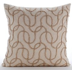 Natural Beige Decorative Pillow Covers 18x18 by TheHomeCentric