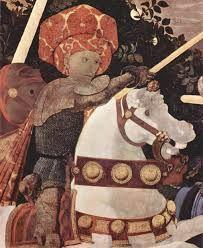 paolo uccello battaglia di san romano - 1438, national gallery, forma impigliata nel cristallo profondo dello spazio prospettico