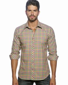 Beatiful plaid shirt for men by Jared lang