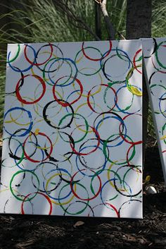 Mom Swim Bike Run: How to Make a Rachel Whiteread Inspired Olympic Poster/Painting
