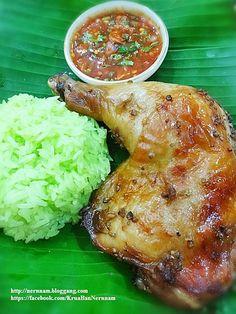 ไก่อบ Thai Recipes, Asian Recipes, Cooking Recipes, Chicken Menu, Chicken Recipes, Easy Honey Garlic Chicken, Tasty Thai, Laos Food, Thai Street Food