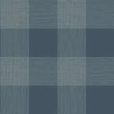 Sample Common Thread Wallpaper in Blues from Magnolia Home Vol. 2 by Joanna Gaines Stripped Wallpaper, Plaid Wallpaper, White Wallpaper, Wallpaper Roll, Wallpaper Warehouse, Design Repeats, Burke Decor, Wallpaper Samples, Magnolia Homes