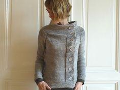 Cute! -- Golden Wheat Cardigan knit by merieb