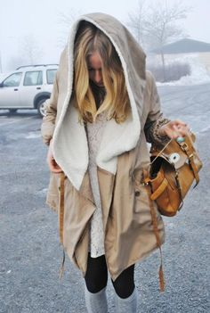 love anything w. an oversized hood! Best part about dressing for winters in NY : )