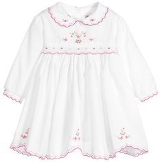 Shop new season Sarah Louise, featuring beautiful Christening dresses, suits and shortie sets for girls and boys. Baby Outfits, Kids Outfits, Sewing Tutorials, Baby Girls, Smocking, Babys, Pink, Cotton, Clothes