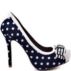 Dots Dots Dots Heels I LOVE ...      Not Rated    Mimosa - Navy