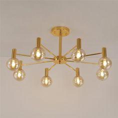 Retro Style Plafond Pendule éclairage résidentiels chambre éclairage alu Lustre Cuivre
