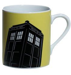 Doctor Who Home Yellow Tardis Mug