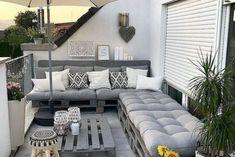 Natural Interior Garden Design Ideas That Make You Relax 57 Sofas, Palette Diy, Balkon Design, Foto Casual, Terrace Garden, Balcony Gardening, Design Your Home, Outdoor Furniture, Outdoor Decor