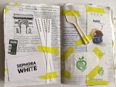Pair's Travel Journals Book #1 EU Trip Paris,France #scrapbook Champ Elysee and Grom icecream <3