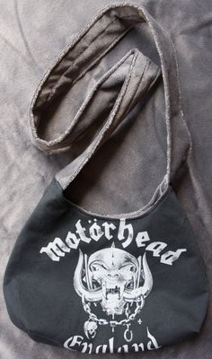 Motorhead Upcycled Rock Band T-shirt Purse OOAK door evilrose
