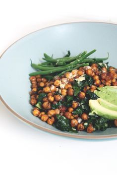 A Humble Roasted Chickpea and Kale Salad