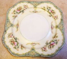 Meito Hand Painted Square Salad Plate Fine by LoveCareHandmade