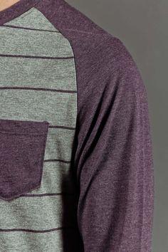 Retrofit Grand Slam 3/4 Sleeve Striped Raglan