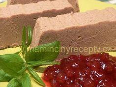 + 19 rychlá játrová paštika No Salt Recipes, Cooking Recipes, Czech Recipes, Meatloaf, Recipies, Cheesecake, Appetizers, Homemade, Dishes