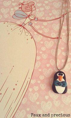 pinguin necklace για μικρές και μεγάλες κυρίες